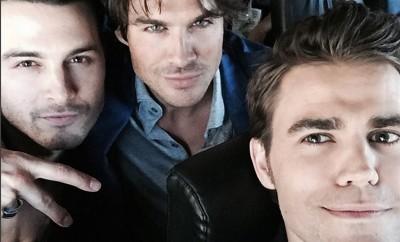 Vampire Diaries - Ian Somerhalder hat Co-Star Michael Malarkey zum Fressen gern