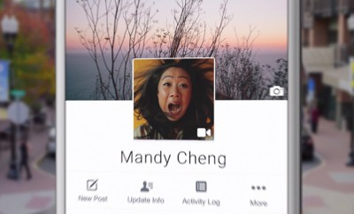 Facebook: Animierte Profilbilder und neues Layout