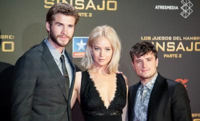 Tribute von Panem-Stars Jennifer Lawrence, Liam Hemsworth und Josh Hutcherson