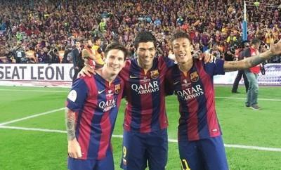 Die Tridente vom FC Barcelona: Messi, Suárez und Neymar.