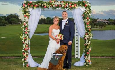 Justin Lansfort hat seinen Hund zum Trauzeugen ernannt.