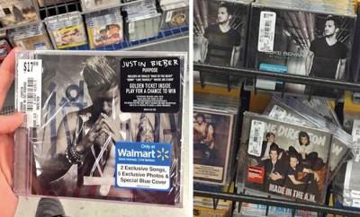 Justin Bieber und One Direction Alben eine Woche zu früh im Laden.