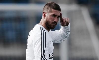 Sergio Ramos und Jesé Rodriguez laufen für Real Madrid gegen PSG auf.