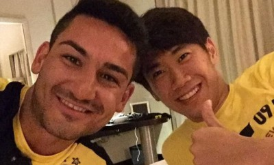 Ilkay Gündogan und Hinji Kagawa von Borussia Dortmund.