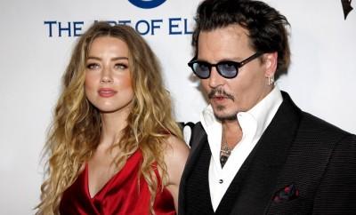 Johnny Depp und seine Frau Amber Heard.