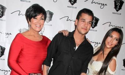 Kim Kardashian mit ihrem Bruder Rob Kardashian und ihrer Mutter Kris Jenner.