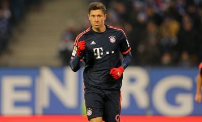 Robert Lewandowski im Spiel des FC Bayern München gegen den Hamburger SV.