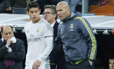 Real Madrid: James Rodriguez und Zinedine Zidane.