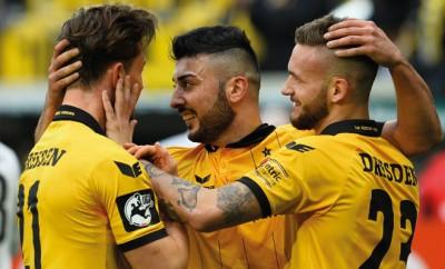 Dynamo Dresden darf gleich zwei mal jubeln.