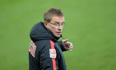 Ralf Rangnick regt sich nach dem Sieg von RB Leipzig gegen den SC Paderborn auf.