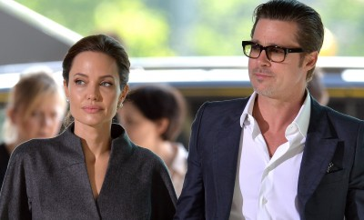 Brad Pitt und Angelina Jolie in London.