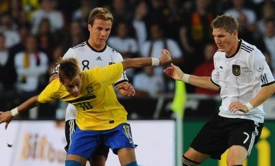 Neymar und Mario Götze im Jahr 2011.