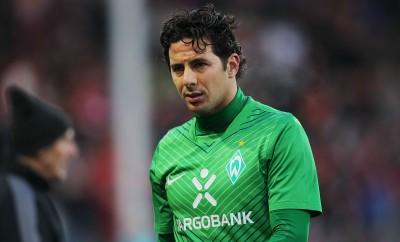 Claudio Pizzaro im Spiel von Werder Bremen gegen den SC Freiburg.