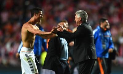Carlo Ancelotti und Cristiano Ronaldo verstehen sich noch immer sehr gut.