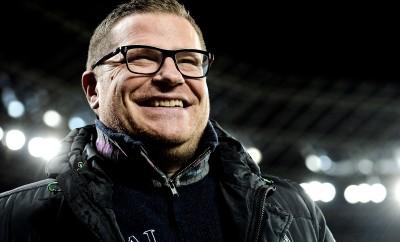 Sportchef Max Eberl hat mit Borussia Mönchengladbach gut Lachen.