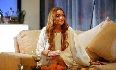 Lindsay Lohan bei einem Besuch in England.