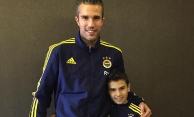 Robin van Persie und sein Sohn Shaqueel.