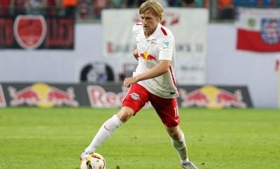 Emil Forsberg von RB Leipzig steht in England hoch im Kurs.