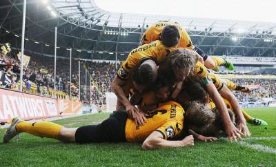 Dynamo Dresden freut sich bereits jetzt auf die 2. Bundesliga.