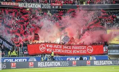 War der Abstieg des 1. FC Nürnberg ein abgekartetes Spiel? Public-Viewing für das Relegationsrückspiel gegen Eintracht Frankfurt.