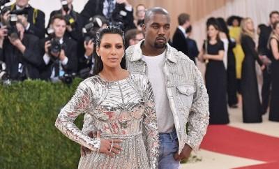 Auch Kim Kardashian und Kanye West mögen den Metalic-Look.
