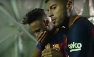 Neymar wurde von Fan ins Gesicht geschlagen.