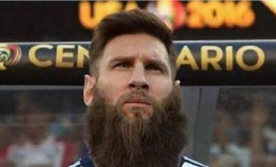 Lionel Messi sorgt in den sozialen Netzwerken mit seinem Bart für mächtig Aufsehen.