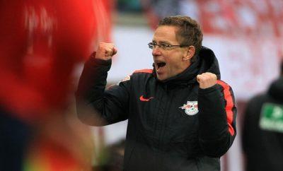 Ralf Rangnick hat momentan bei RB Leipzig allen Grund zur Freude.