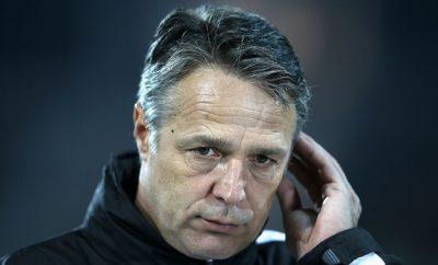 Trainer Uwe Neuhaus von Dynamo Dresden.