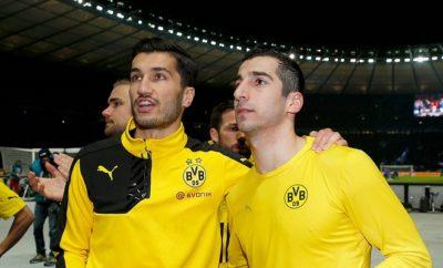 Ilkay Gündogan und Henrikh Mkhitaryan stehen sich zukünftig im Derby von Manchester gegenüber.
