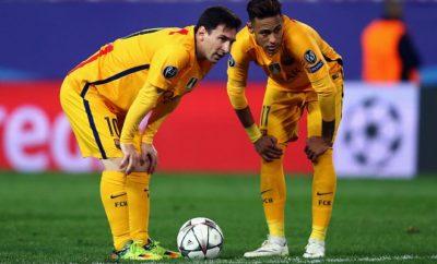 Neymar stellt sich eine Stufe unter Lionel Messi.