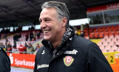 Uwe Neuhaus hat mit Dynamo Dresden allen Grund zur Freude.