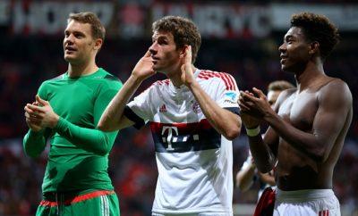 Thomas Müller und David Alaba fordern von den Fans des BVB ein respektvolles Verhalten.