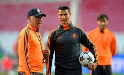 Cristiano Ronaldo und FC Bayern München Trainer Carlo Ancelotti schätzen sich.