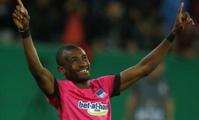 Salomon Kalou ist glücklich für Hertha BSC auf dem Platz stehen zu können.