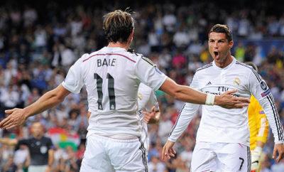 Cristiano Ronaldo und Gareth Bale von Real Madrid.
