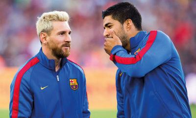 Luis Suarez und Lionel Messi vom FC Barcelona.