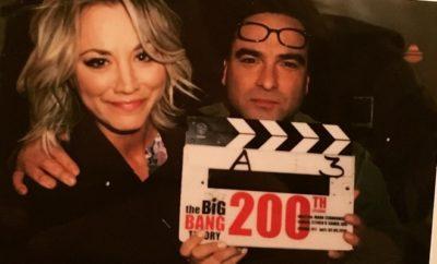 Big Bang Theory: Kaley Cuoco und Johnny Galecki amüsieren sich am Set!