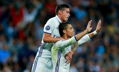 Cristiano Ronaldo und James Rodriguez verstehen sich nicht nur auf dem Platz blendend.