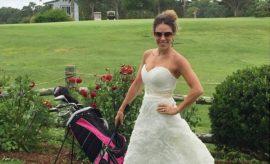 Samantha Burns lässt ihr Hochzeitskleid nicht im Schrank verstauben.