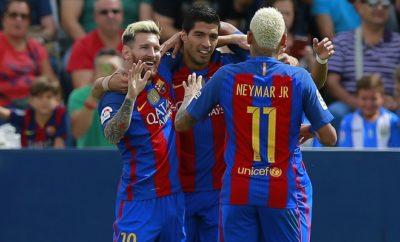 Lionel Messi,  Luis Suarez und Neymarsorgen bei Manchester City nicht für schlaflose Nächte.