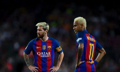 Blonde Haare Neymar und Lionel Messi
