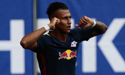 Davie Selke ist zufrieden bei RB Leipzig.