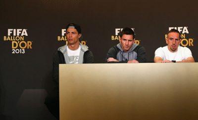 Cristiano Ronaldo, Lionel Messi und Franck Ribery haben im Jahr 2013 um den Ballon d'Or gekämpft.