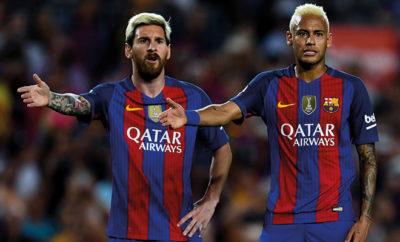 Lionel Messi und Neymar Jr. vom FC Barcelona.