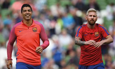 Lionel Messi und Luis Suárez vom FC Barcelona.