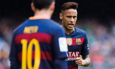 Neymar und Lionel Messi vom FC Barcelona.