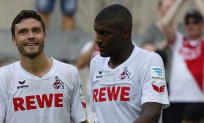 Jonas Hector und Anthony Modeste sind mit der Entwicklung beim 1. FC Köln zufrieden.