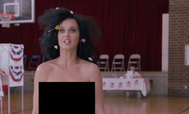 Katy Perry setzt sich für eine hohe Wahlbeteiligung in Amerika ein.