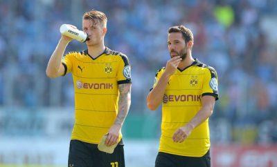Marco Reus und Gonzalo Castro vom BVB.